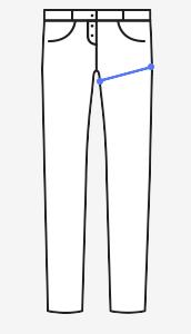 Obvod stehen – nejširší část stehna.